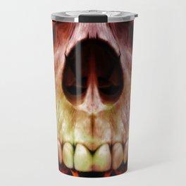 Skull Fire Travel Mug