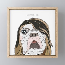 Celebrity Dogs-Christy Tei-Dog Framed Mini Art Print