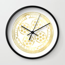 union street: paved in gold Wall Clock