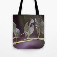 eat Tote Bags featuring Eat by CrookedHeart