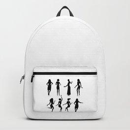 Female silhouette set Backpack