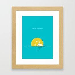 i believe in dinosaurs Framed Art Print