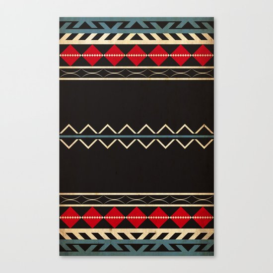 Aztec Dark Canvas Print