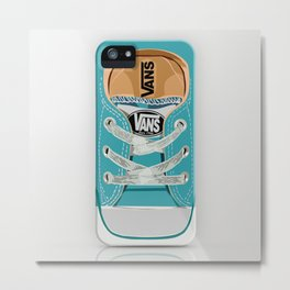 Cute blue teal Vans all star baby shoes iPhone 4 4s 5 5s 5c, ipod, ipad, pillow case and tshirt Metal Print