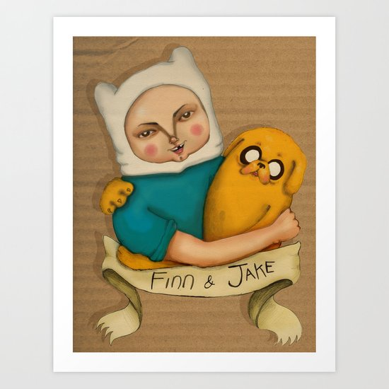 Adventures time! Art Print