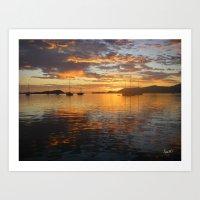 Sunrise on the Sea of Cortez. Art Print