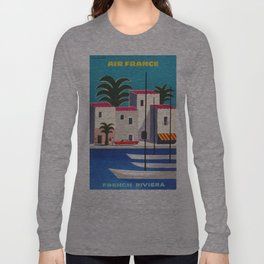 Vintage poster - French Riviera Long Sleeve T-shirt