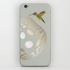 Hummingbird and Bubble iPhone & iPod Skin