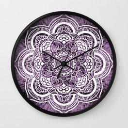 Mandala Grayish Purple Colorburst Wall Clock