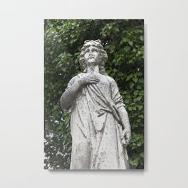 Woman Statue Closeup Metal Print