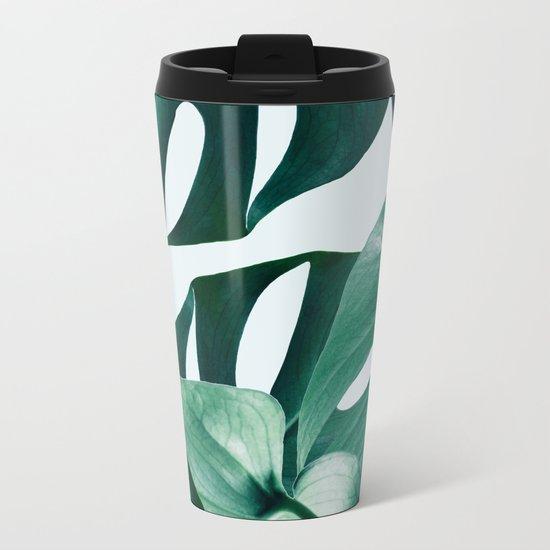 Monstera #society6 #artprints #buyart Metal Travel Mug