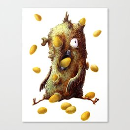 THE HEN WITH GOLDEN EGGS Canvas Print