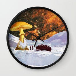Withe Planet Wall Clock