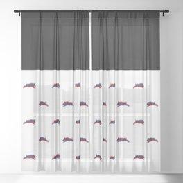 Psycho Pig Sheer Curtain