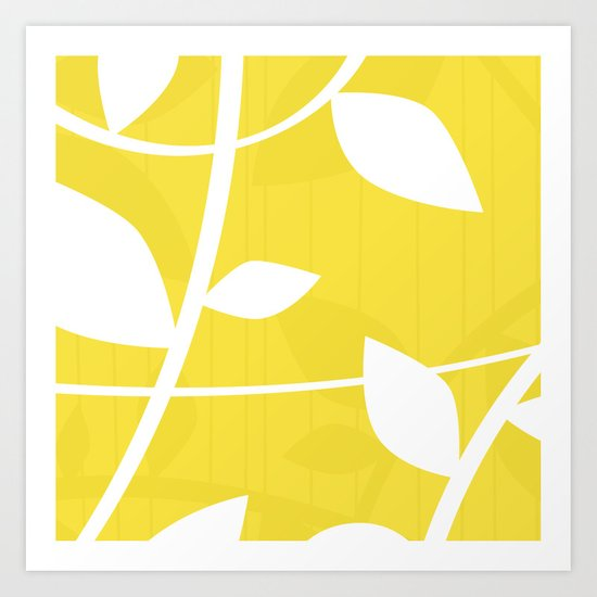 Vine in Yellow by Friztin Art Print