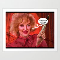 jessica lange Art Prints featuring Don't fuck with the Lange by Sabuchan