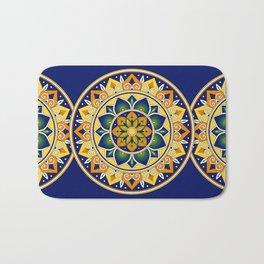 Italian Tile Pattern – Peacock motifs majolica from Deruta Bath Mat