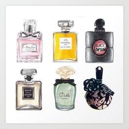Perfume Collection Art Print
