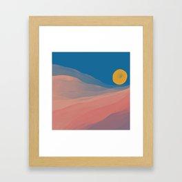 Somewhere Between Dusk And Dawn Framed Art Print