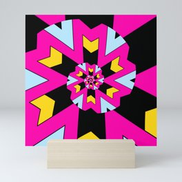 Trippy Spiral Pattern Mini Art Print