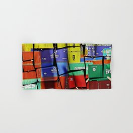Colorful container wall board Hand & Bath Towel