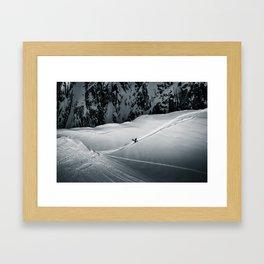 White Gold Framed Art Print