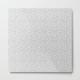 Grey Leopard Print Metal Print