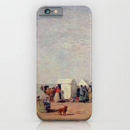 Eugène Boudin - Plage à Trouville iPhone Case