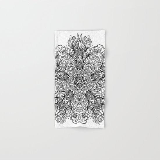 B&W Indian Mandala Hand & Bath Towel