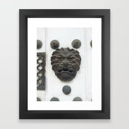 Cartagena Lion Mug, Colombia, South American Framed Art Print
