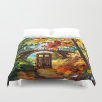 fandom Duvet Covers featuring starry Abandoned phone box Under the bridge iPhone 4 4s 5 5c 6, pillow case, mugs and tshirt by Three Second