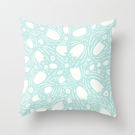 Floral Reverie in Seafoam Throw Pillow