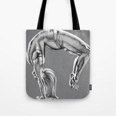 Bend Over Backwards Greyscale Tote Bag