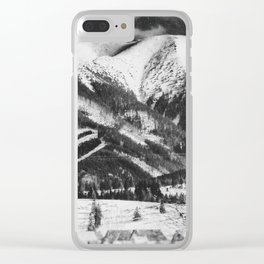 mountains Tatry #blackandwhite #photography Clear iPhone Case