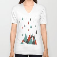 vancouver V-neck T-shirts featuring North Vancouver by Daina Lightfoot