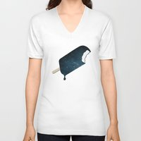 summer V-neck T-shirts featuring Space Melter by Zach Terrell