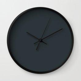 Solid Gunmetal Black html Color Code #2C3539 Wall Clock