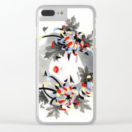 Chrysanthemum Mood Clear iPhone Case