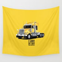 truck Wall Tapestries featuring truck kenworth by dareba