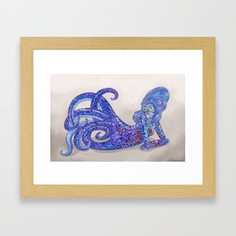 Bobtail Squid Mermaid Framed Art Print
