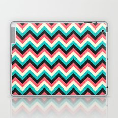 Chevron - Coral Turquoise Black Laptop & iPad Skin
