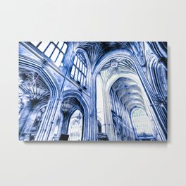 The Blue Abbey Metal Print