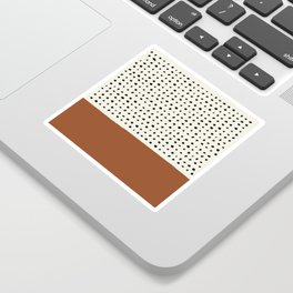 Burnt Orange x Dots Sticker