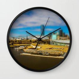Oklahoma River by Monique Ortman Wall Clock