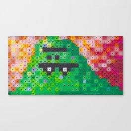 Perler bead monster Canvas Print