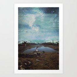 Wandering Satellite  Art Print