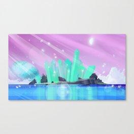 Crystal Column Island Canvas Print