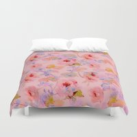 girly Duvet Covers featuring girly floral by clemm