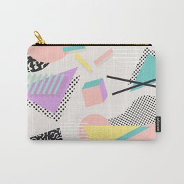80s / 90s RETRO ABSTRACT PASTEL SHAPE PATTERN Carry-All Pouch
