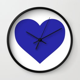 Heart (Navy Blue & White) Wall Clock
